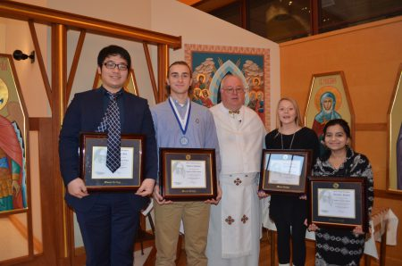 Father Waslo with Mother Josaphat medal nominees
