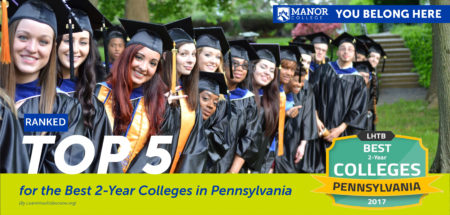 Manor College is Ranked Top 5 for the Best 2-Year Colleges in Pennsylvania