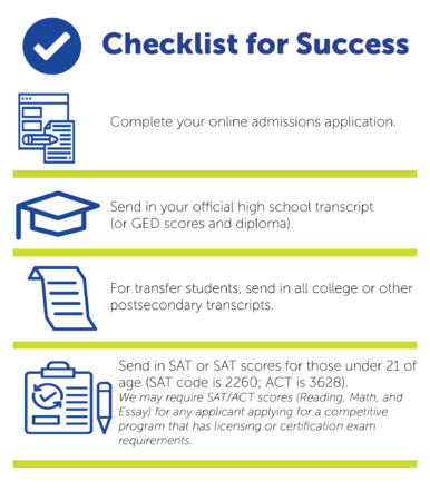 Admissions checklist manor college
