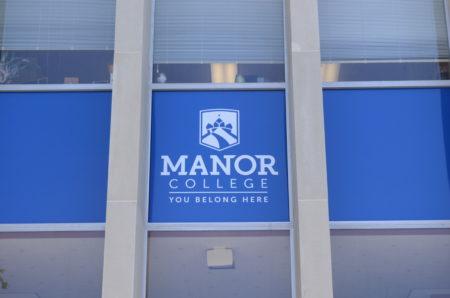 Manor College school entrance