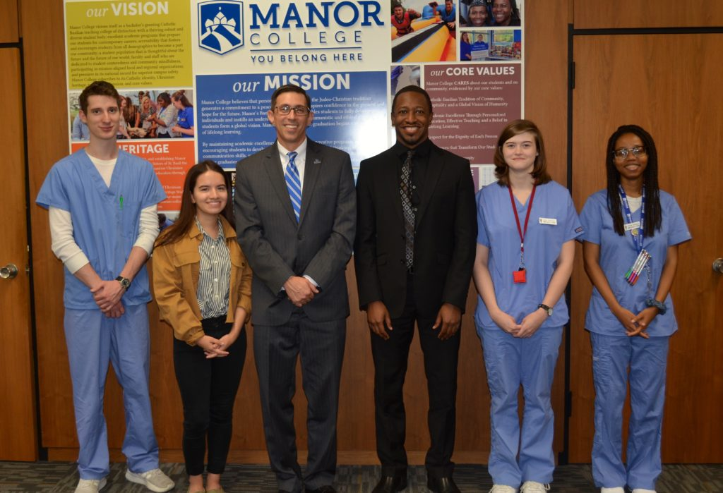 scholarship recipients at Manor College