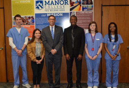 scholarship recipients at Manor College