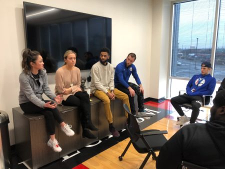 Manor students visit the sixers facility in Trenton