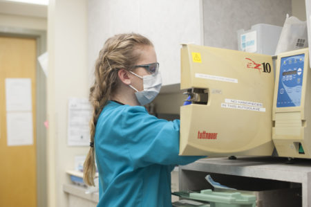 dental hygiene student at Manor College