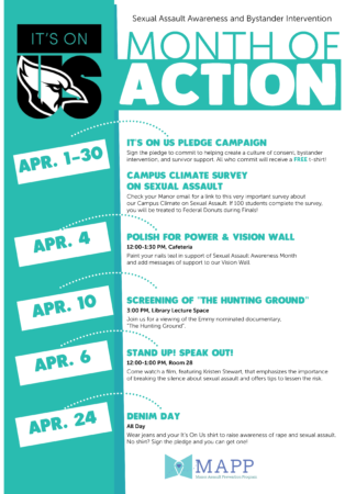 It's on Us Sexual Assault Awareness at Manor College