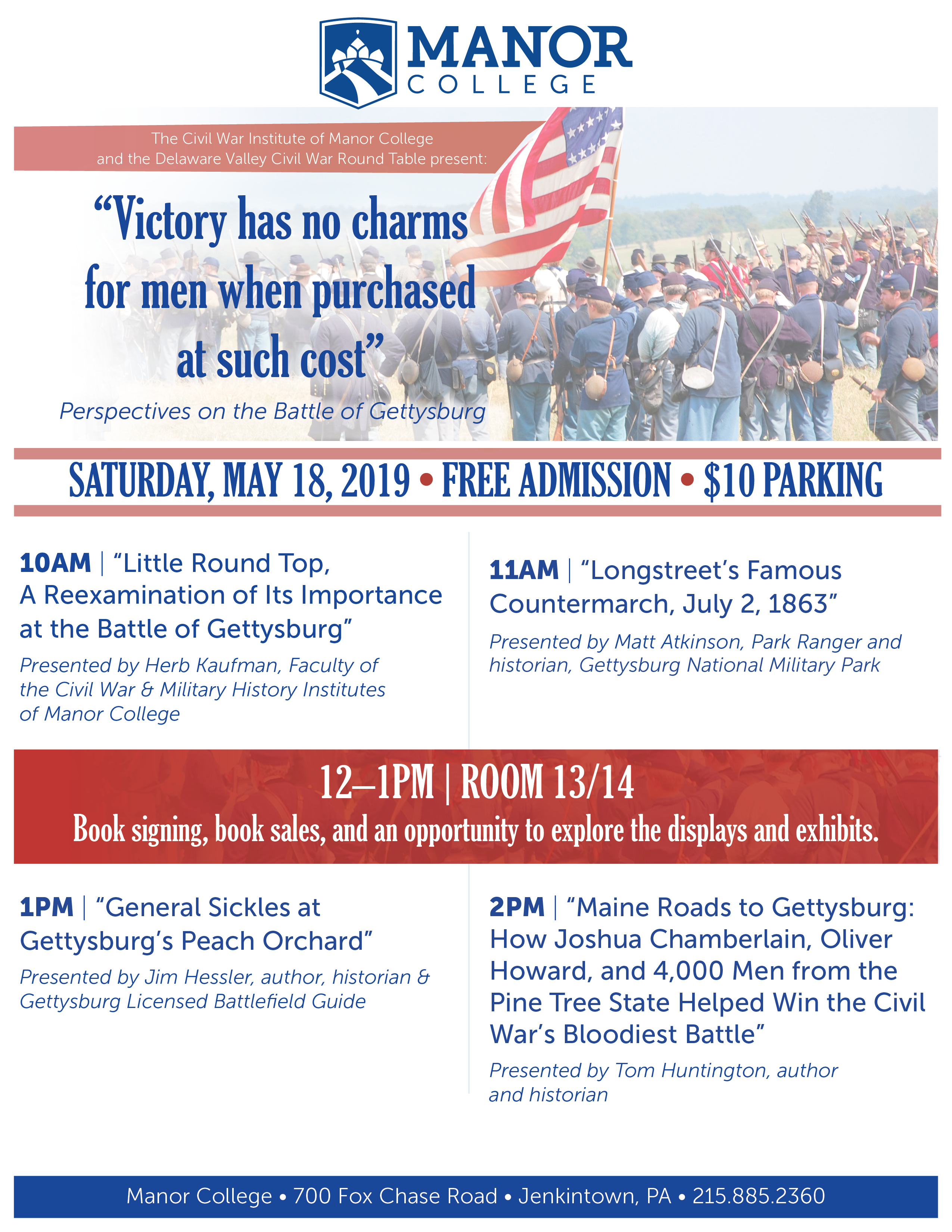 Gettysburg Day of History at Manor College in Jenkintown