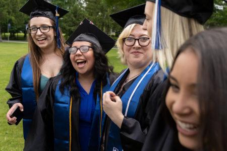 Students graduating from Manor College in Philadelphia