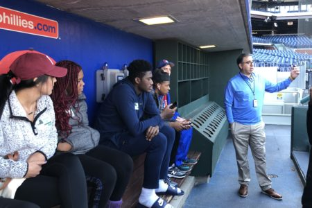 sports management visits phillies